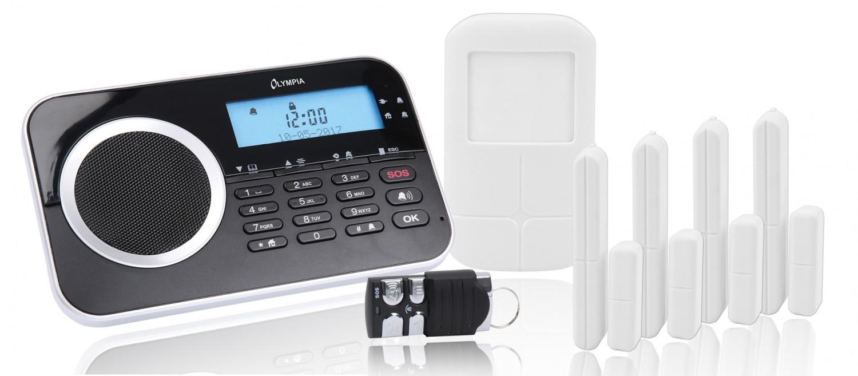 test smart home alarmanlage olympia drahtloses gsm alarmanlagen set 9661 sehr gut. Black Bedroom Furniture Sets. Home Design Ideas